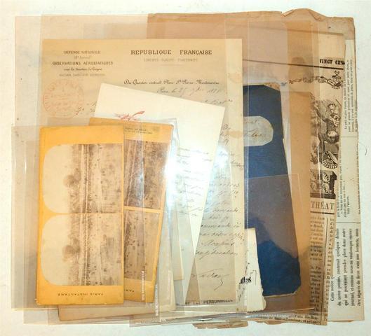 NADAR (Felix Tournachon) Important ensemble de documents relatifs