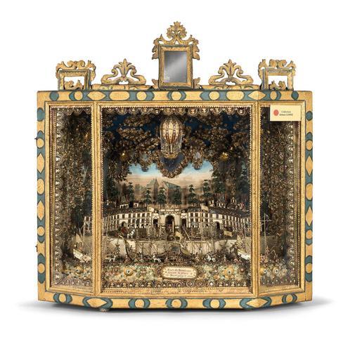 Diorama en verre filé de Nevers représentant le port de Bordeaux