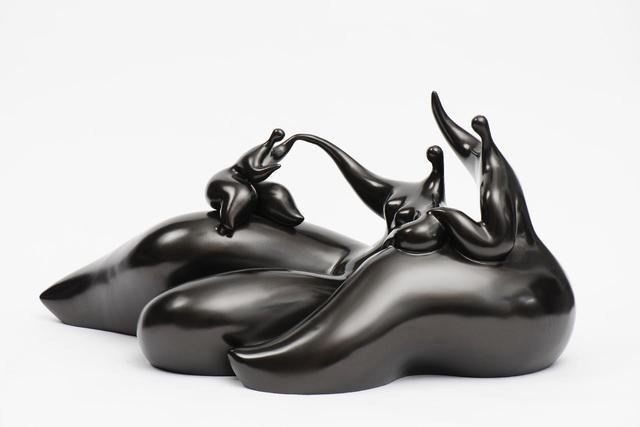 Jean-Louis Toutain (1948-2008) : Détente en famille. Sculpture en