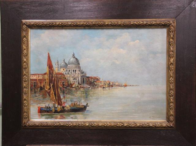 R. STEINER - Vue du grand canal La Salute, huile sur toile signée