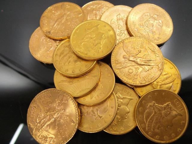 D'un ensemble de monnaies en or