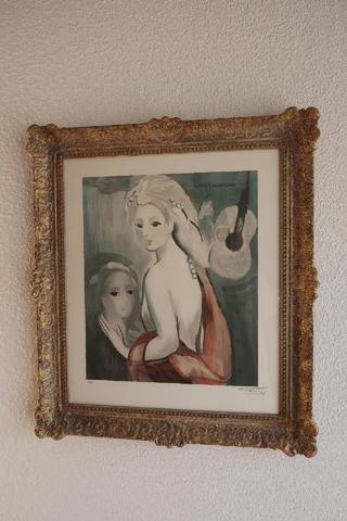 Marie Laurencin (1883-1956), Lithographie 65x50 cm à vue, «Les Mélomanes».