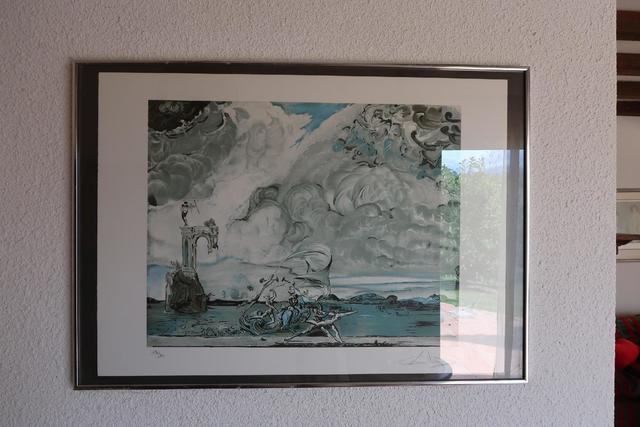 """Salvador DALI (1904-1998) , Lithographie 47x57 cm, """"Le triomphe du"""