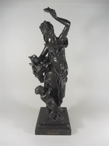 CARRIER BELLEUSE Albert Ernest (1824-1887) : L'été, scultpure en