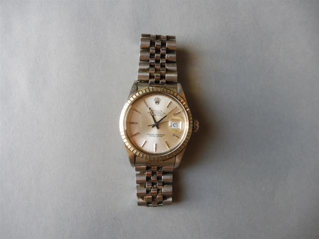 ROLEX : Montre bracelet en acier Oyster Perpetual Datejust, cadran