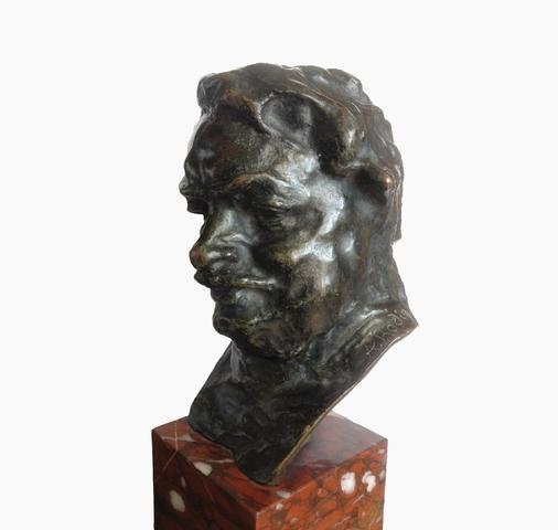 Auguste RODIN (1840-1917)  Balzac, étude type C (buste), 3ème version,