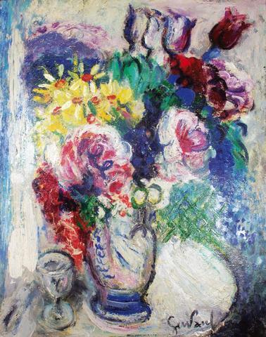 """GEN-PAUL (1895-1975)  """"Bouquet de fleurs"""" Huile sur toile, signée"""