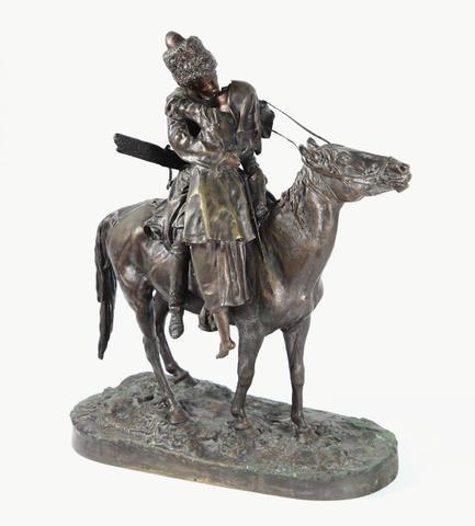 Evgeni Alexandrovich LANCERAY (1848-1886).Le baiser du cosaque.Epreuve