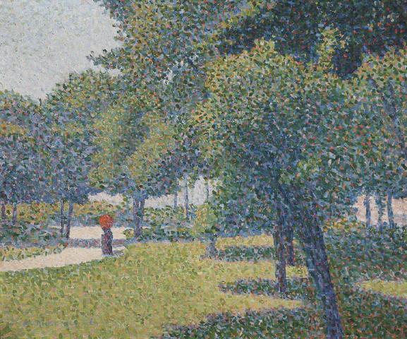 Charles ANGRAND (1854-1926) Coin du parc Monceau, 1888 Huile sur