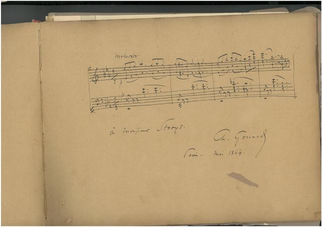 Partitions signées Gounod et autres  Livre d'or - Détails sur
