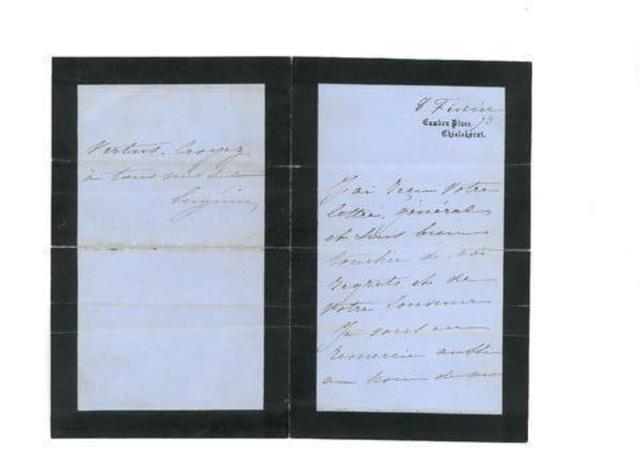 Lettre autographe Eugénier - Détails sur   http://www.interencheres.com/fr/meubles-objets-art/bijoux-tableaux-objets-dart-vins-livres-autographes-live-ie_v104391.html