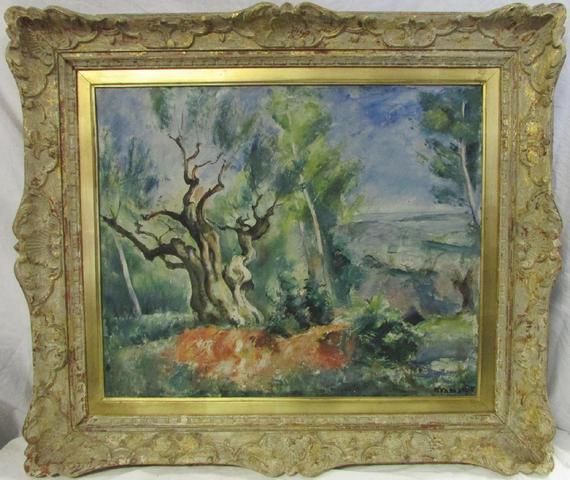 """Roman KRAMSZTYK (1885-1942) """" Paysage à l'arbre """" huile sur toile,"""
