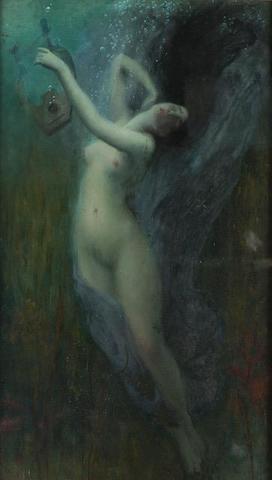 Charles-Amable LENOIR (1860-1926). Sappho. Huile sur toile, signée