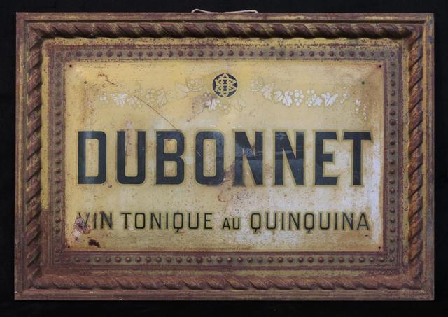 """""""DUBONNET, Vin tonique au Quinquina"""" plaque en tôle émaillée 22"""