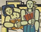 D'après Fernand LEGER La lecture Lithographie en couleurs Non numérotée Vue : 45 x 57,5 cm - Feu...