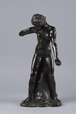 Auguste RODIN (1840 - 1917). Faunesse debout. Bronze à patine brune.