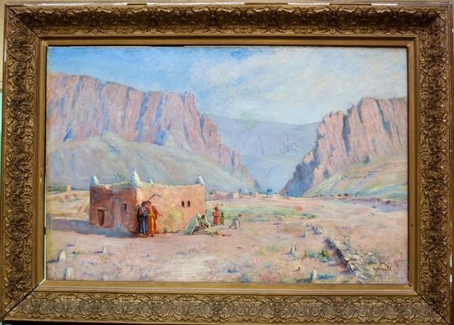 TODE Waldemar Knut Gustaf (1859-1900). Les gorges d Elkantara (Algérie).