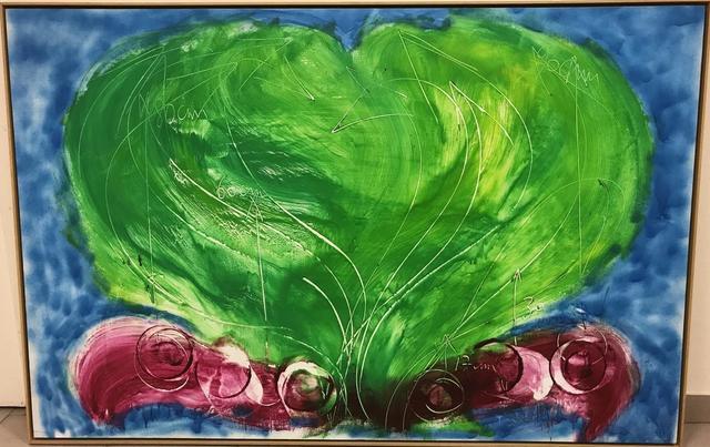 MESSAGIER Jean (1920-1999). Poste de commande pour jeunes herbes.