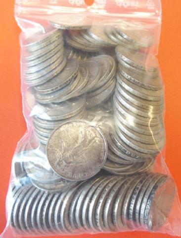 Collection numismatique argent pièces 5 francs semeuses années 60s.