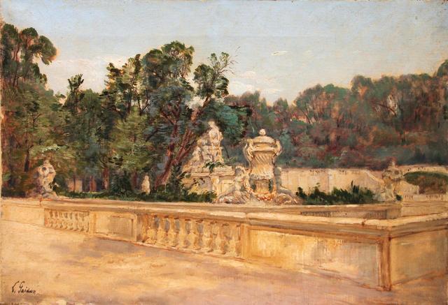 *Louis GAIDAN (1847-1925)  - Les jardins de la Fontaine, à Nîmes