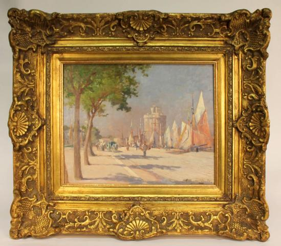 Albert Tibule Furcy de Lavault (1847-1915) HSP figurant une vue animée