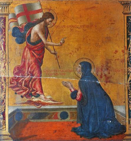 ECOLE ITALIENNE (Ombrie ?) dernier tiers du XV ème siècle L'Apparition