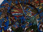 Robert COMBAS Feu les Soldats  Peinture originale sur Porcelaine