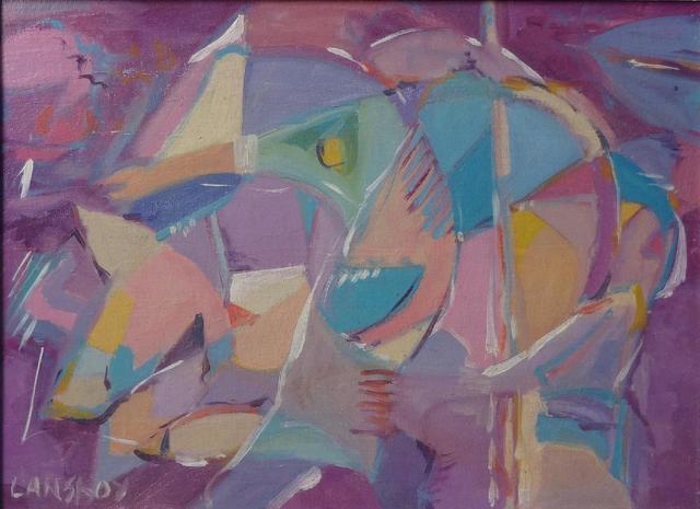 André LANSKOY (1902-1976) , composition, gouache sur papier,