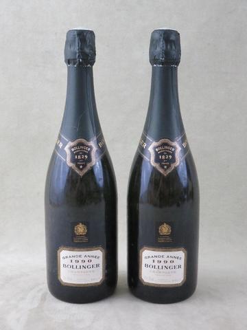 Champagne Bollinger Grande année 1990. 2 B.