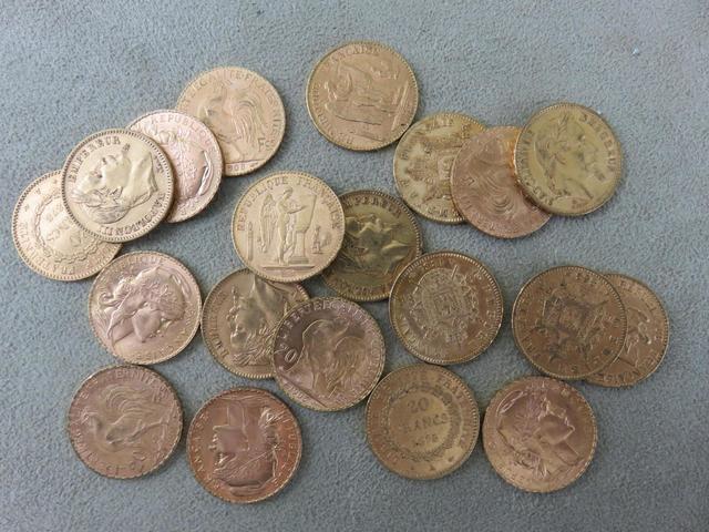 France. 20 pièces de 20 francs or. (vente sur désignation, pièces