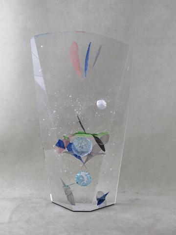 Yan ZORITCHAK (1944). Big Bang. Sculpture en verre, signée et datée