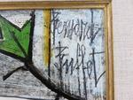 Bernard BUFFET (1928-1999). Nature-morte à la poire verte et aux