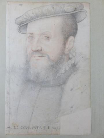 Ecole française du XVIème siècle Portrait d'Anne de Montmorency Pierre