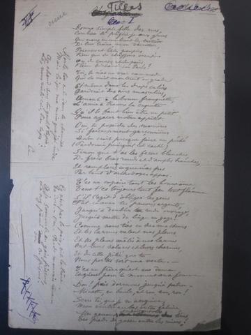 121     POEME EROTIQUE AUTOGRAPHE DE PAUL VERLAINE (signature postérieure