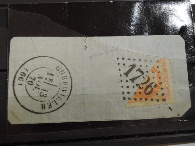 64     TIMBRES FRANCE N° 31 - DEMI TIMBRE SUR FRAGMENT, GROS CHIFFRES