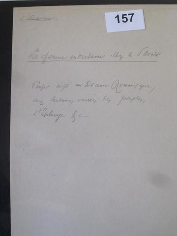 157 .6   Charles BAUDELAIRE (1821-1867), NOTE AUTOGRAPHE CONCERNANT