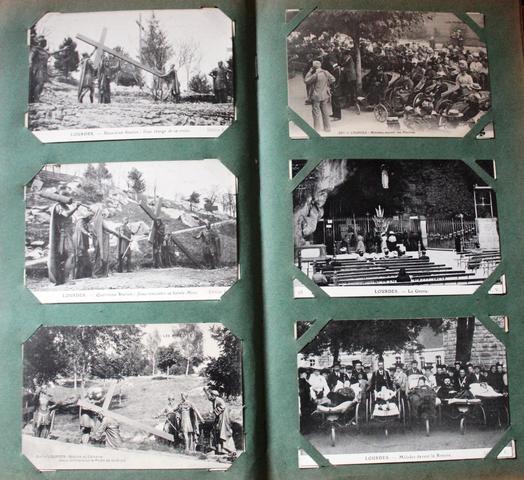 Album d'environs 365 cartes postales anciennes comprenant vues de