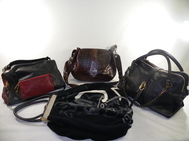4 sacs à mains de marques KENZO, SONIA RYKIEL, SANDRO, BURBERRY