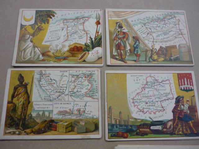 Le Fil Géographique (pelotes de laine). Environ 96 cartes publicitaires