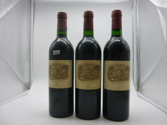 3 btlles Pauillac, Lafite Rothschild, 1984. Parfait état.