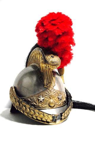 Casque de Général de brigade  de dragons modèle 1874.  Bombe en