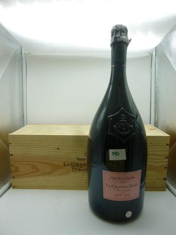 1 Jéroboam Champagne, Veuve Clicquot, La Grande Dame, rosé, 1990.
