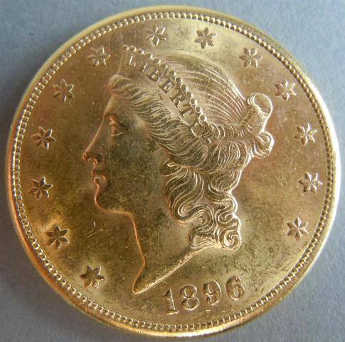 ETATS UNIS - Liberty Head - 20 Dollars or 1896, Atelier S - San Francisco