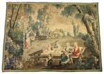MANUFACTURE ROYALE D'AUBUSSON XVIIIe siècle Les amusements champêtres Tapisserie 188