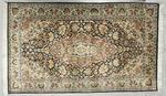 TAPIS DES INDES Décor floral et frises polychromes 155 x 93 cm