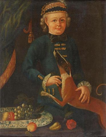 "Ecole Lorraine du XIXe, entourage de Jean GIRARDET. ""Portrait de Nicolas"