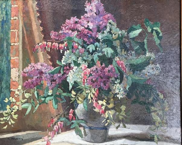 DELAUNAY Bouquet de Fleurs hst sbg 60x73 cm