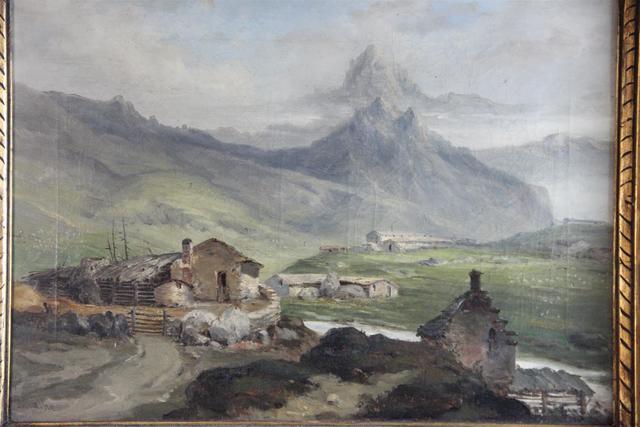 """MIALHE Pierre-Toussaint-Frédéric (1810-1881) """"Paysage de montagne"""","""