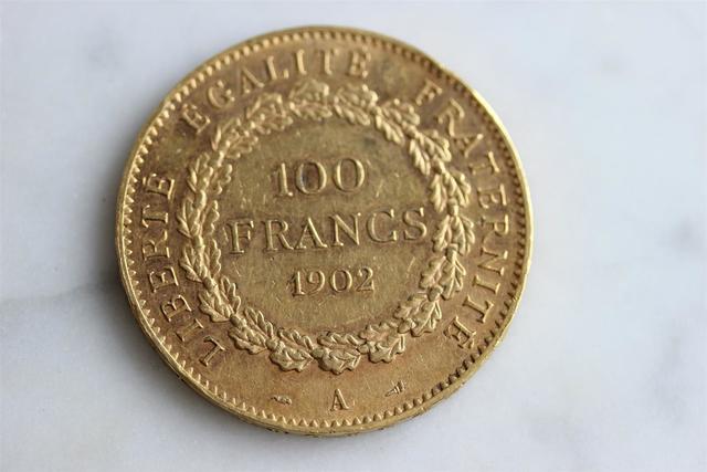 1 pièce de 100F or 1902