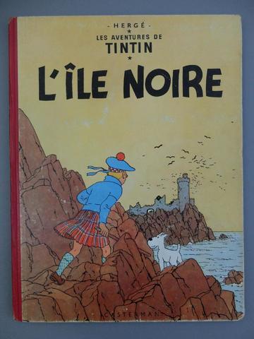 """HERGE - LES AVENTURES DE TINTIN, """"L'Ile noire"""", 1954, quatrième plat"""